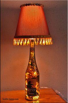 Wine Bottle Lamp - 11 DIY Bottle Lamp Ideas
