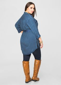 Lace Up Back Flat Tall Boot - Wide Width Wide Calf - Ashley Stewart
