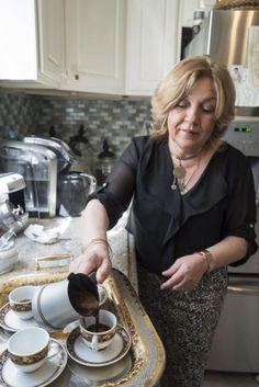 "Sema Bal, a ""Turkish Coffee Messenger"" featured on Bravo's ""Real Housewives of New York,"" prepares  coffee in her kitchen before giving the Daily News a taste."