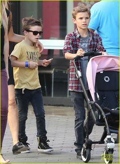 Cruz & Romeo Beckham, love them!