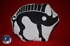 Hand-painted linen pillow - toy with Terra Celtica association logo