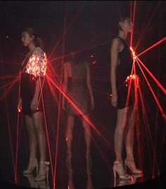 laser dresses, hussein chalayan spring summer 2008