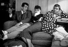Dean Martin,Audrey Hepburn & Jerry Lewis