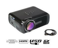 84.99$ Buy here - http://alif6c.worldwells.pw/go.php?t=32569773935 - LED Video Projector Home Projector with Free HDMI Support 1080P for Home Cinema Theater TV Laptop Game SD iPad iPhone Android