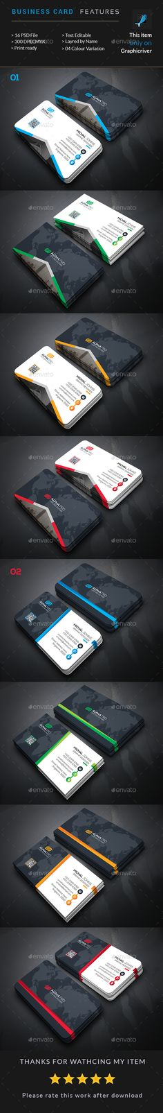 2 Corporate Business Card Template PSD. Download here: http://graphicriver.net/item/corporate-business-card-bundle-2-in-1/16854017?ref=ksioks