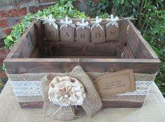 Apple Crate Wedding Card Post Box Handmade Bunting Vintage