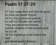 Verse of the day 4-21-2015      Psalm 37:27-29 WE♡U FATHER GOD AMEN THANK YOU JESUS XOXO :D