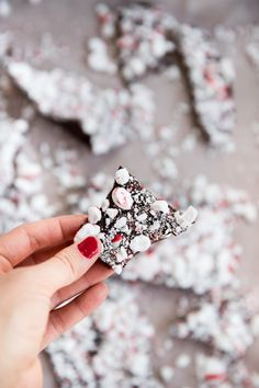 3 Ingredient, Dairy Free Peppermint Chocolate Bark // www.deliacreates.com