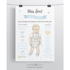 Stars Theme Portrait Birthday Board - A4 Print – And so to Shop Baby Arrival, Birthday Board, Christening, Special Day, Cuddling, Little Ones, A4, Baby Gifts, New Baby Products