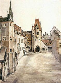 Albrecht Dürer. Courtyard of the Former Castle in Innsbruck without Clouds. 1494