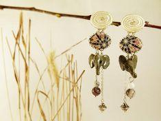 Elephant earrings botswana howlite tissue  elephant earrings