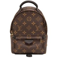 Preowned Louis Vuitton Palm Springs Backpack Mini (€1.970) ❤ liked on Polyvore featuring bags, backpacks, backpack, sac, black, crossbody backpack, metallic backpack, leather crossbody bags, leather rucksack and louis vuitton backpack