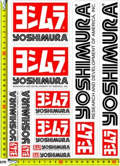___ YOSHIMURA ___ - ( 8 x 12 inch ) - Printed in Hexis Vinyl / Gloss Lamination extra protection - Indoor/outdoor - Purchased products are dispatched within 1 day Any Questions please drop message Shoei Helmets, Jdm Stickers, S1000r, Motorcycle Decals, Free Stencils, Street Racing, Cool Logo, Car Decals, Bike