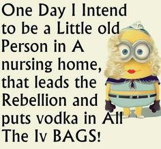 Vodka in the IV bag.