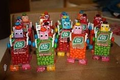 Robot favors -- Nuts & Bolts about you - Roboterbevo. Robot favors — Nuts & Bolts about you – Roboterbevo…, Valentine Gifts For Kids, Valentines Diy, Valentines Robots, Pokemon Lego, Transformers Birthday Parties, Transformer Birthday, Candy Crafts, School Treats, Boy Birthday