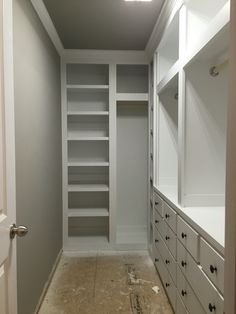 Best ideas narrow walk in closet layout Best ideas narrow walk in closet layout wardrobes Tips to Make Your Small Closet Feel Twice as Big - The Organized Momcloset with no Closet Remodel, Bedroom Wardrobe, Bedroom Closet Design, Narrow Bedroom, Closet Designs, Closet Decor, Build A Closet, Remodel Bedroom, Closet Layout