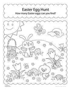 Easter Egg Hunt printable.  Great for visual discrimination.