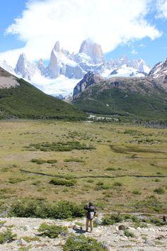 Hiking around El Chalten, Patagonia. Fantastic mountain range! Must do in Argentina