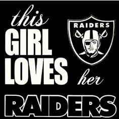 This girl loves her raiders hell yeah raidersbaby