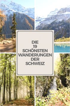Die Schönsten Wanderungen der Schweiz