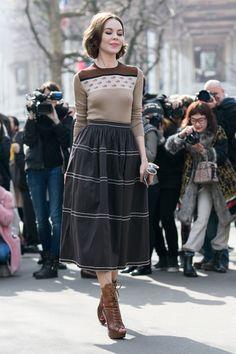 Dame she looks good #UlyanaSergeenko stopping traffic. Paris
