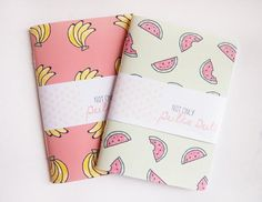 Small Blank Notebooks // Fruity // Tropical by notonlypolkadots, £3.50 #backtoschool: