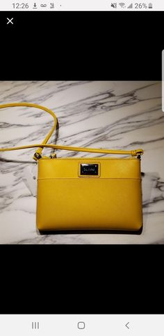 Best Calvin Klein Crossbody Purse for sale - Brand new without original tags Color: golden yellow Material: man-made Width 3 cm Lenght cm Height 18 cm About 60 cm long when worn (please note that strap is not removable) Garage Sale App, Virtual Garage Sale, Purses For Sale, Golden Yellow, Calvin Klein, Buy And Sell, Brand New, Note, Tags