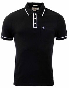 Brand: Original Penguin by Munsingwear. Key Points: Original Penguin True Black Earl Polo Shirt wit