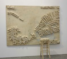 Marcel Broodthaers   Panel with Eggs and Stool