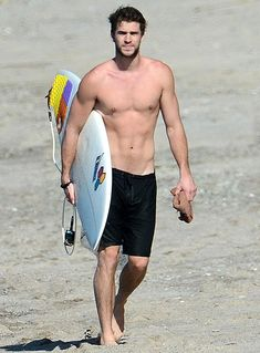 Actor Liam Hemsworth ready to get wet