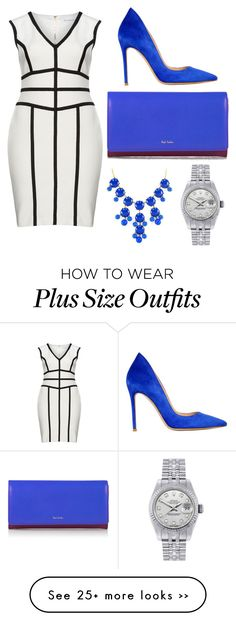 """Untitled #242"" by marcelina767 on Polyvore featuring Gina Bacconi, Gianvito Rossi, Paul Smith Black Label and Rolex"