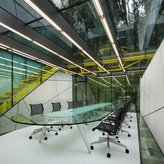 Dardanel Administration Building by Alatas Architecture and Consulting / GLASS CONFERANCE / GREEN ACCENT COLOR