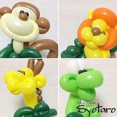 バルーングリーティング:ジャングル Balloon Roving:Jungle #ジャングル #モンキー #サル #猿 #ライオン #キリン #ヘビ ##バルーン #バルーンアート #jungle #monkey #lion#giraffe #snake #balloon #balloonart #balloontwisting Syotaroの新しいバルーングリーティングでは、絵の中の仲間たちが、生き生きした表情やしぐさそのままに、皆さんのところにやってきます! ●Syotaro's WEB Sites http://balloonsyotaro.wix.com/balloon-syotaro