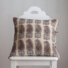 Therese Chocolate Small Deco Pillow