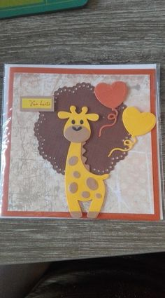 kinderkaartje met giraf