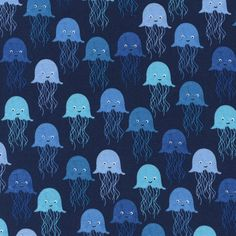 Splash by Timeless Treasures - Jellyfish (Navy)