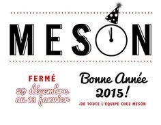 À nous les vacances!!! Que votre année 2015 soit remplie d'amour, d'amitié et de bons moments autour de la table :)