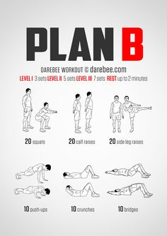 Plan B Workout DAREBEE  When you need a plan B, here is the workout!