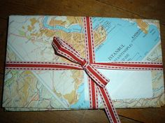 lovely envelopes made from old map