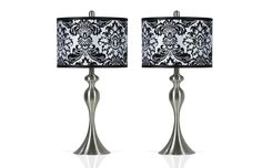 Set of 2 Damask Lamps | Lamps | Home Accents | Bob's Discount Furniture