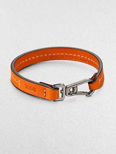 Tod's - Marina Topstitched Leather Bracelet - Saks.com