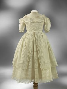 1860 Child's long gown | V Search the Collections