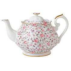 New Country Rose Confetti Vintage Teapot