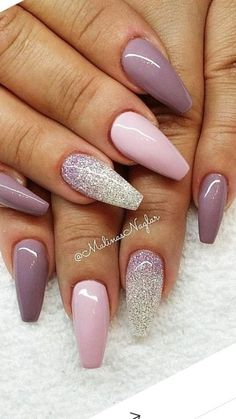 Coffin shaped nails http://fashionnails.org/various-types-of-nail-polish-style/