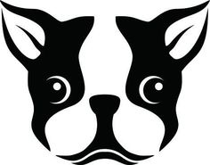 "A Stencil of a Boston Terrier Dog - 24""W x 19""H - Peel and Stick Wall Decal by Wallmonkeys by Wallmonkeys Wall Decals, http://www.amazon.com/dp/B00AWCG3LG/ref=cm_sw_r_pi_dp_l99-rb1XVZN36"