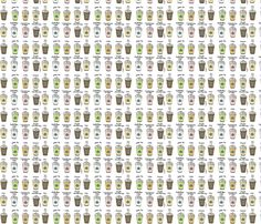 Coffee Break fabric by lashes_and_lace on Spoonflower - custom fabric