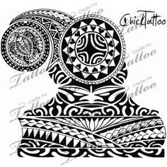 Polynesian armor half sleeve | design #113651 | CreateMyTattoo.com