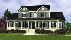 Country House Plan with 3095 Square Feet and 4 Bedrooms(s) from Dream Home Source | House Plan Code DHSW73479
