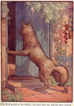 wolf entering granny's house