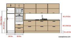 Altura dos armários suspensos em relação a pia.